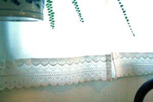 window linen repurposed from a pillow case