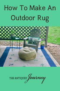 DIY outdoor rug styled