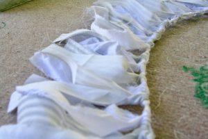 ticking stripe fabric garland