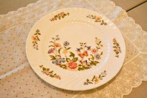 a vintage floral plate