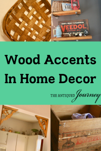 vintage wooden accents as home decor