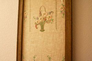 framed linen close up view