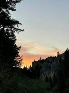 a montana sunset
