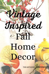 vintage inspired fall home decor