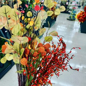 bouquet of faux fall stems