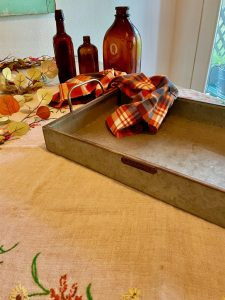 materials to create a fall centerpiece