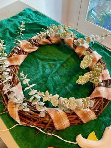 diy grapevine wreath with eucalyptus