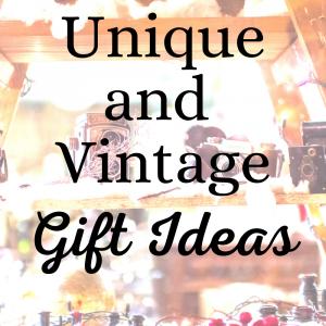 a printable list of vintage gift ideas