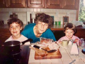 baking with grandma